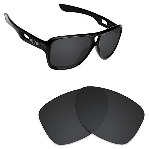 Alphax Stealth Black Polarized Replacement Lenses for Oakley Dispatch 2 ()