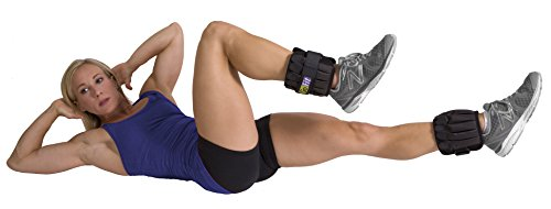 Padded Adjustable Ankle Weights Set by GoFit