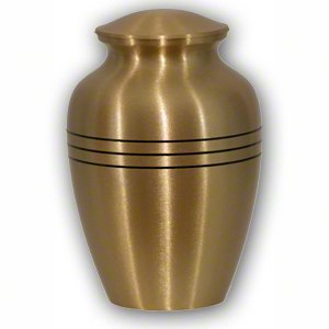 Elegant, Classic Brass Pet Memorial Urn - Medium by Best Friend Services