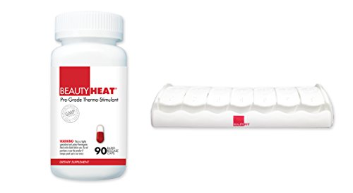 BeautyFit BeautyHeat and FREE BeautyFit Pill Box, Women's Pro-Grade Thermo-Stimulant (90 Capsules)