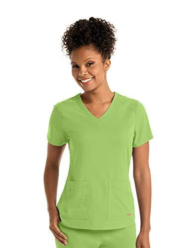 Grey's Anatomy GRST011 Women's 4 Pocket Front and Back Shoulder Yoke Scrub Top Kiwi 5XL ()