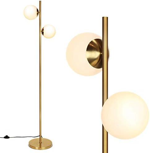 Tangkula Mid Century Globe Floor Lamp