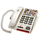 High Volume 26 dB Large Big Button Photo Dialer Telephones For Who May Have Age-Related Eye(s) Or And Ear Problems
