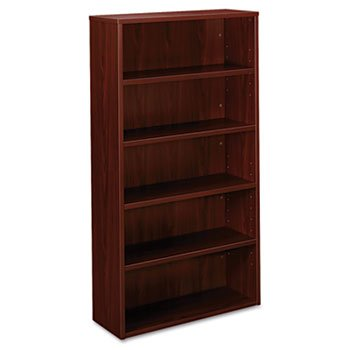 Basyx BL2194NN BL Laminate Series 5-Shelf Bookcase, 32w x 65-3/8h, Mahogany