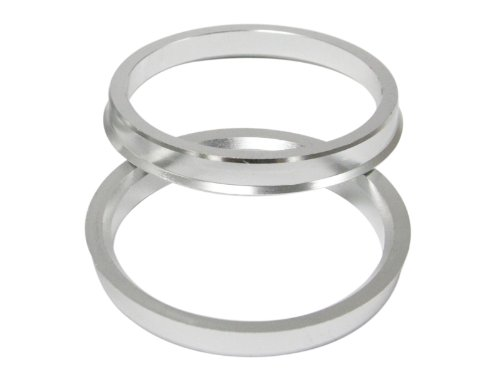 Hubcentric Rings (Pack of 4) - 67.1mm ID to 72.6mm OD - Silver Aluminum Hubrings - Only Fits 67.1mm Vehicle Hub & 72.6mm Wheel Centerbore - for many Mitsubishi Mazda Kia Hyundai by Precision European Motorwerks (Image #6)