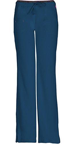 Heartsoul ''Heart Breaker' Low-Rise Drawstring Pant' Scrub Bottoms Caribbean Blue Large Petite