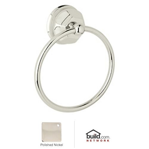 Rohl A6885PN 6-Inch Palladian Wall Mounted Towel Ring in Polished Nickel by Rohl