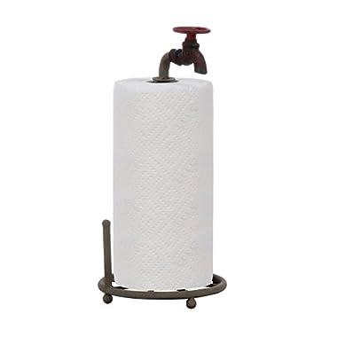 Creative Co-op DA0075 Metal Faucet Paper Towel Holder, 15-Inch