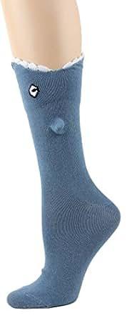 Foot Traffic Blue Shark Bite 3-D Socks