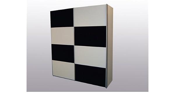 Rauch Quadra Alpine blanco con cristal negro 2 armario de puertas correderas: Amazon.es: Hogar