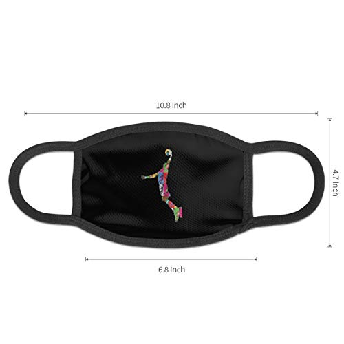 Dear Basketball Logo Unisex Mouth Mask Washable Reusable Polyester Anti Pollution Dust Mask For Mens And Womens