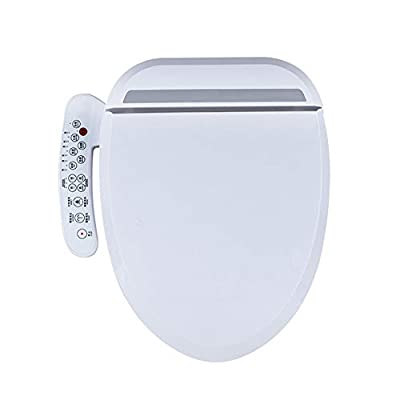 Smart Bidet Toilet Seat with Stainless Steel Self-Cleaning Nozzle Seat Water Temperature Multi-Speed Temperature Spray Bar 6 Steps Adjustable