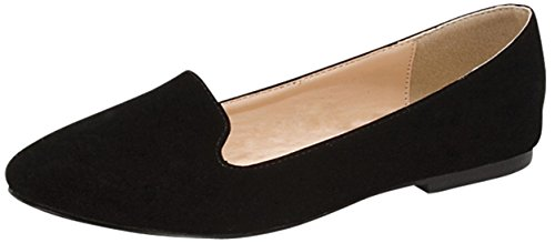 Forever Link Women's Slip On Smoking Loafer Slipper Flat
