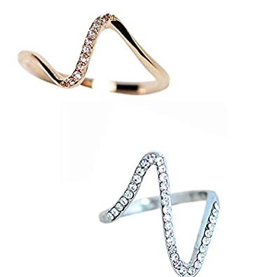 Discountsday 2019 Design New Wave of Stone Finger Ring Fashion Jewelry Gift for Women Girl Jewelry Gifts