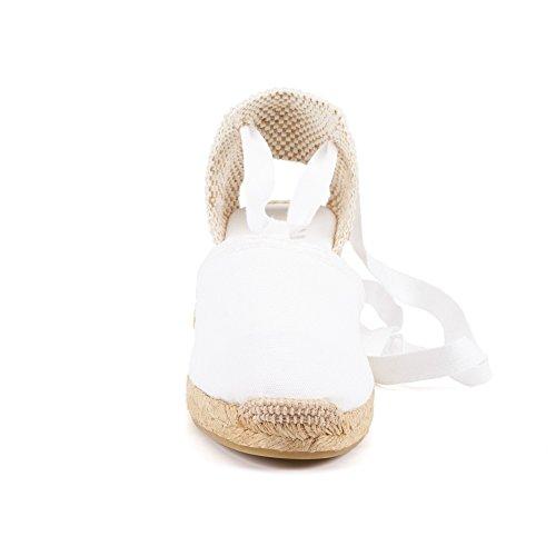 tacco Bianco in prodotte Spagna aperte donna Bianco in da a Viscata Scarpe punte RxIZq4S