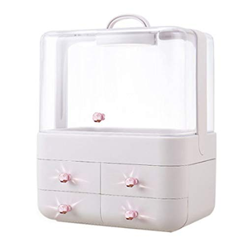 Cosmetic Display Cases Cosmetic Storage Box Girl's Favorite Gift 180° Full Flip Lid Drawer Storage Box Lipstick Skin Care Product Large Capacity Jewelry Box Finishing Rack Cases