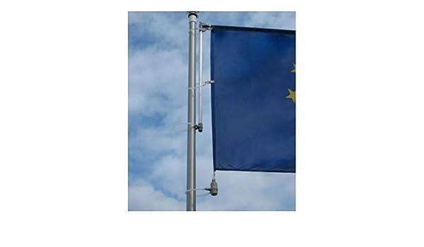 Fahnen Kössinger Réplica de Brazo Basic para mástiles de Bandera, se Puede izar, para Banderas de hasta 150 cm de Ancho, Revestimiento de Polvo de Aluminio, fácil Montaje: Amazon.es: Jardín