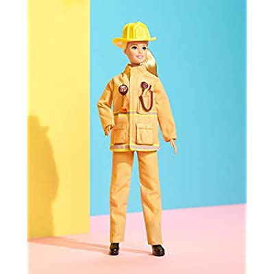 Barbie Firefighter Doll, Blonde, Wearing Firefighter Uniform and Hat, for 3 to 7 Year Olds: Toys & Games