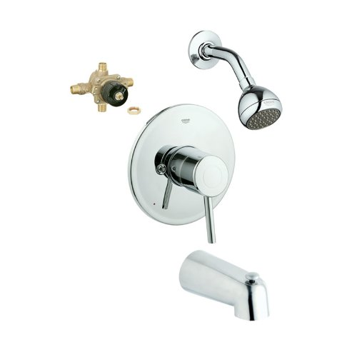 Grohe KTS19457-35015R-000 Concetto Tub and Shower Valve Kit, Chrome