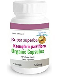 60CAPS 500mg Butea superba Kaempferia parviflora 100% Premium Grade Grown in Thailand.