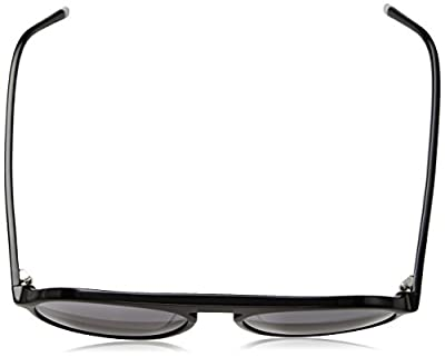 Calvin Klein Men's Ck4350s Round Sunglasses, Black, 56 mm