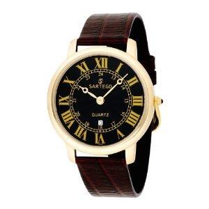 Mens Toledo Dress Watch - Sartego Men's SED612R Toledo Leather Strap
