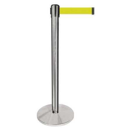 Barrier Post, Silver Post, Fluor Yllw Belt
