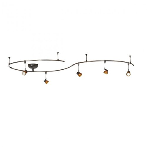 WAC Lighting LM-K8111-AS/DB Solorail 5-Light Adjustable Head Kit, Bronze with Amber (Head Monorail Kit)