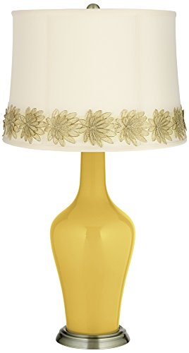 Nugget Flower - Nugget Anya Table Lamp with Flower Applique Trim