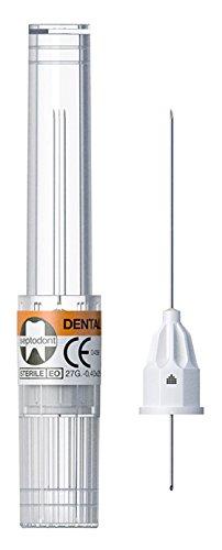 Septodont 01-N1600 Septoject Evolution Sterile Single Use Dental Needle, Infiltration, 27 Gauge, Short, 25mm Length, Orange (Pack of 100)