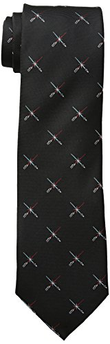 Star Wars Men's Lightsaber Duel Tie, Black, One Size]()