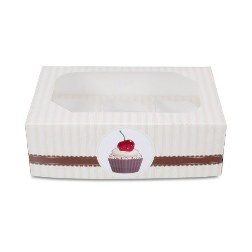 (Staedter Coffeehouse Muffin And Cupcake Box Set For 6 Cups, Multi-Colour, 2-Piece)