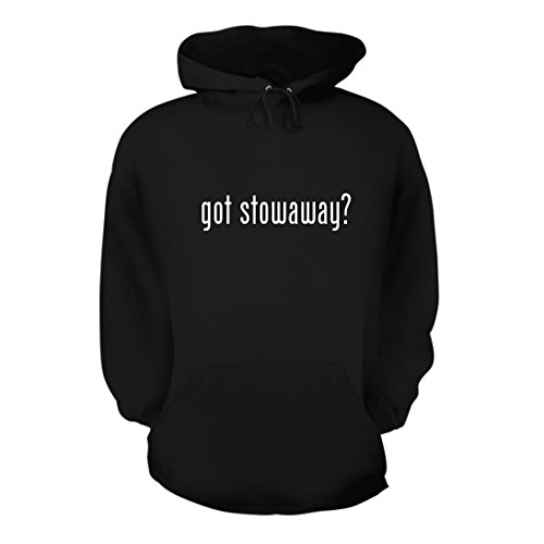 (got Stowaway? - A Nice Men's Hoodie Hooded Sweatshirt, Black, Large)