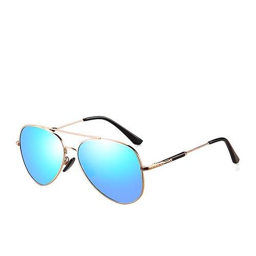 Sol Blue Unisex Conducción Diseñador anteojos C3 Gafas Hombres polarizadas TL Gold para de viajan Espejo C2 Sunglasses Sol de Moda MatteBlack de Gafas ABO64