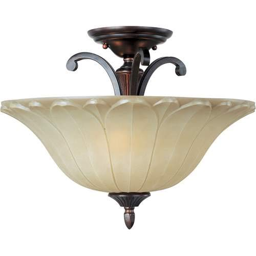 Maxim Lighting Allentown Oil Rubbed Bronze 3-Light Semi-Flush Mount Light 13501WSOI