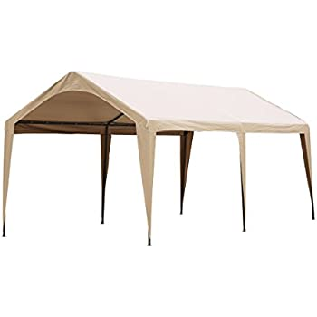 Abba Patio 10 x 20-Feet Outdoor Carport Canopy with 6 Steel Legs Beige  sc 1 st  Amazon.com & Amazon.com: Abba Patio 10 x 20-Feet Outdoor Carport Canopy with 6 ...