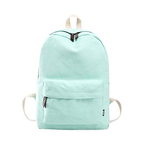 CSSD 2017 Women Girls Canvas Preppy Shoulder Bookbags School Travel Backpack Bag (Mint Green)