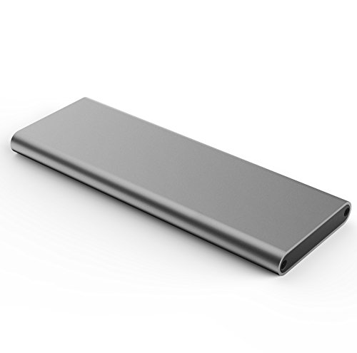 Aluminum M.2 NGFF to USB 3.1 M.2 SSD Enclosure External SSD Enclosure SATA Based M.2(Grey) by Generic (Image #2)