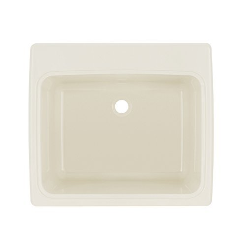 - Swan SSUS1000.018 Dual Mount Solid Surface Utility Sink-Bisque, 22