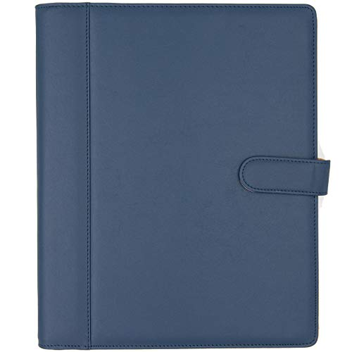 - Padfolio - Resume Portfolio Folder - PU Leather Business Portfolio  Business Card Holder,File Pockets,Expandable Document Organizer  Writing Pad.