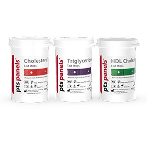 CardioChek Starter Refill Cholesterol Kit includes 3 total,3 hdl,3 trig, 9 capillaries, and 9 lancets