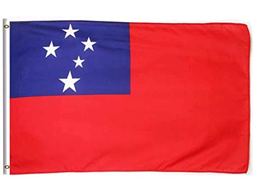 (DFLIVE Samoa Country Flag 3x5 ft Printed Polyester Fly Samoa National Flag Banner with Brass Grommets)