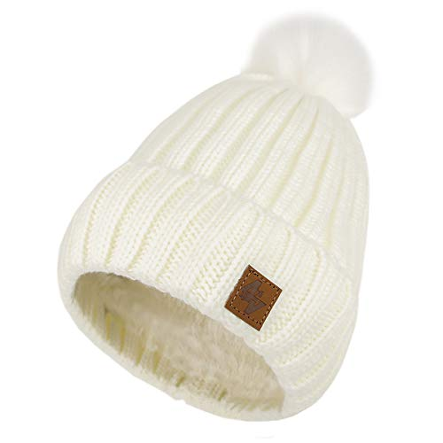 Pour Bonnets Gold 4sold Polaire Tricoté Coloris Gros White Et Femme Bonnet Circle Unique Lady Hommes Pompon Fourré Doublure Confortable Hiver Taille E11wZYqBx