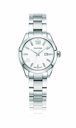 Philip Stein Women's 'Traveler' Swiss Quartz Stainless Steel Casual Watch, Color:Silver-Toned (Model: 91-CWSL-SS)
