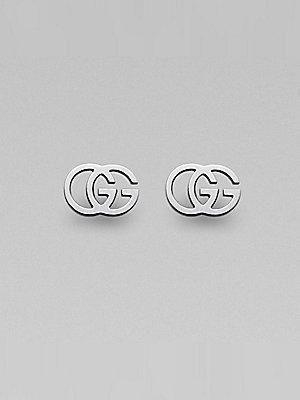 GUCCI GG TISSUE white gold 18kt earrings YBD094074001