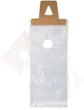 /& Bugs Newspaper Bags with Hangers Protect Against Rain Dirt Clear Plastic Poly Hanging Bags for Mail DK2 Pack of 1000 ClearBags 9 x 15 Door Hanger Bags for Door Knob Flyers Promotions Coupons