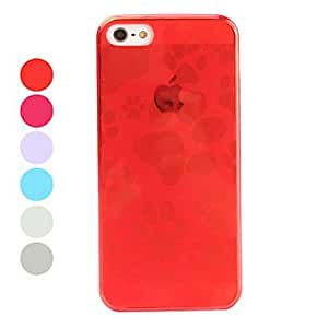 Dog Paw Pattern Soft TPU Case for iPhone 5/5S (Assorted Colors) , Rose