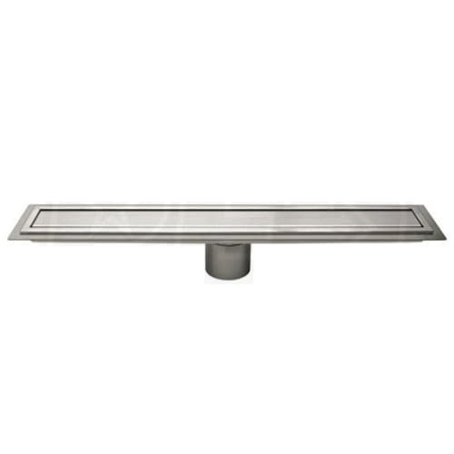 Schluter Kerdi-Line Brushed Stainless Steel 44 in. Metal Closed Drain Grate Assembly