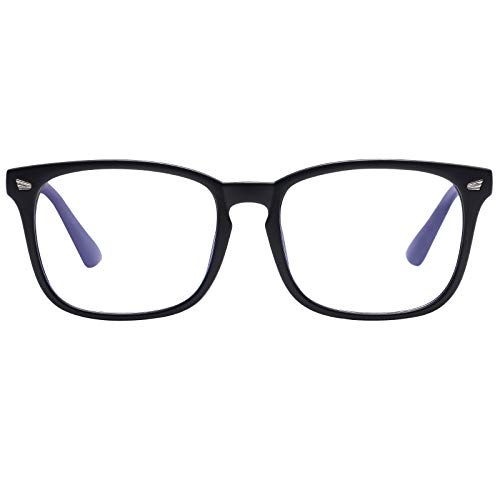 Reading Glasses Blue Light Blocking for Women Men- Square Nerd Eyeglasses Anti Blue Ray Blue Light Blocking Reading Glasses (Matte Black, 2.0) from AIMADE