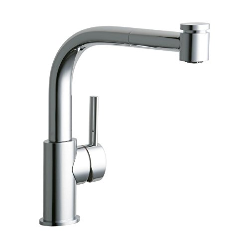 Elkay LKMY1041CR Mystic Chrome Single Lever Pull-out Spray Kitchen Faucet ()
